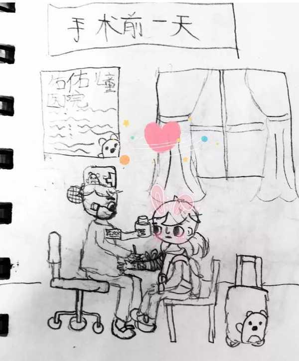 9岁小女孩手绘腺样体手术全过程(附手绘图)
